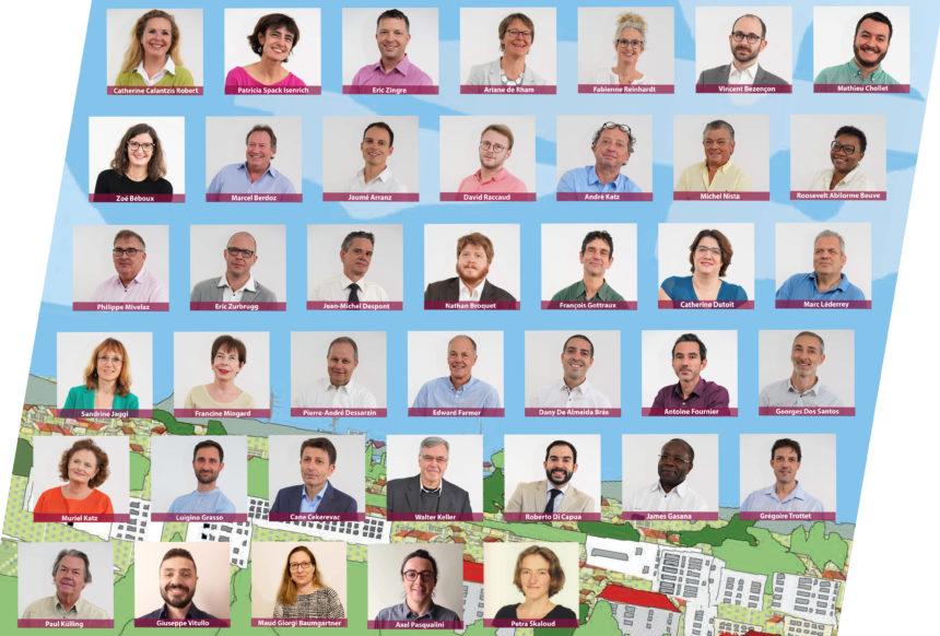 Les candidats du PSIG au Conseil communal